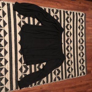 H&M Black off shoulder top